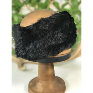 Fur Headband - Black