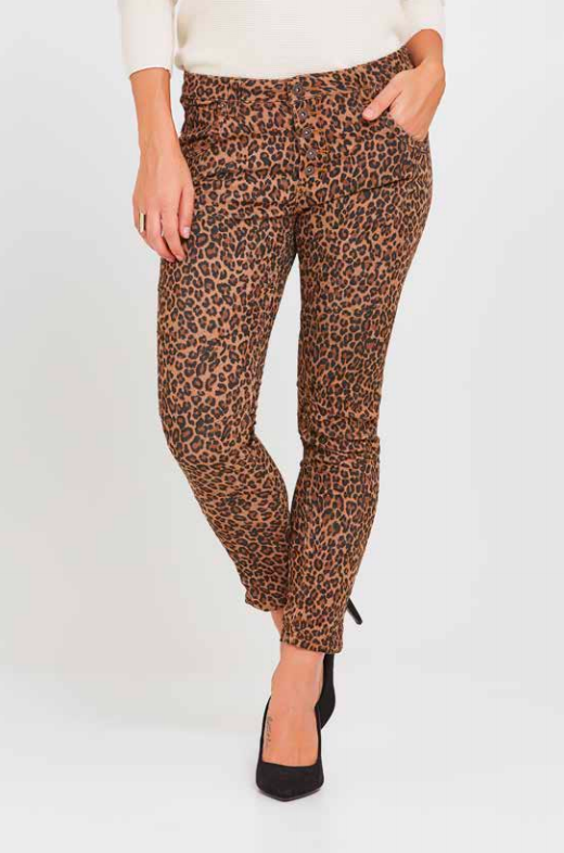 PEACH BLOSSOM - BROWN LEOPARD PRINT