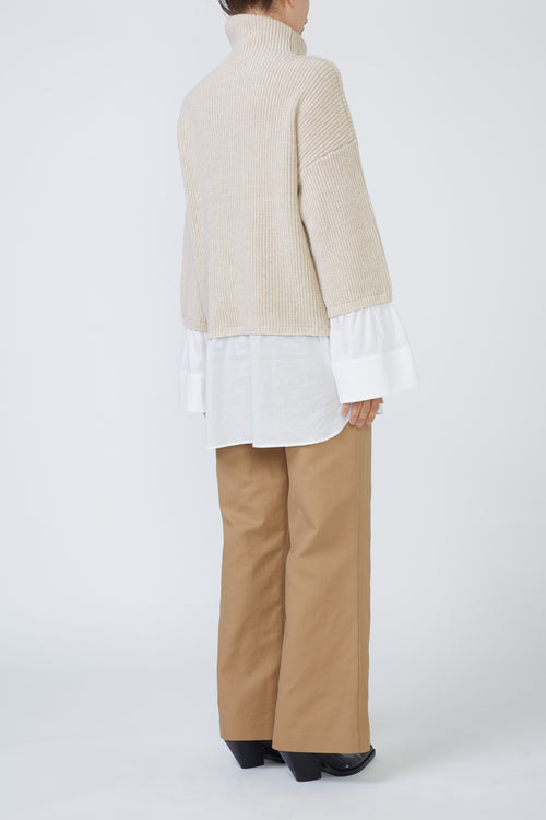 STAMFORD SWEATER SHIRT - NUDE