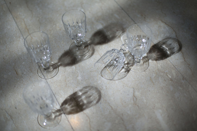 French-cut Crystal Wine Glasses