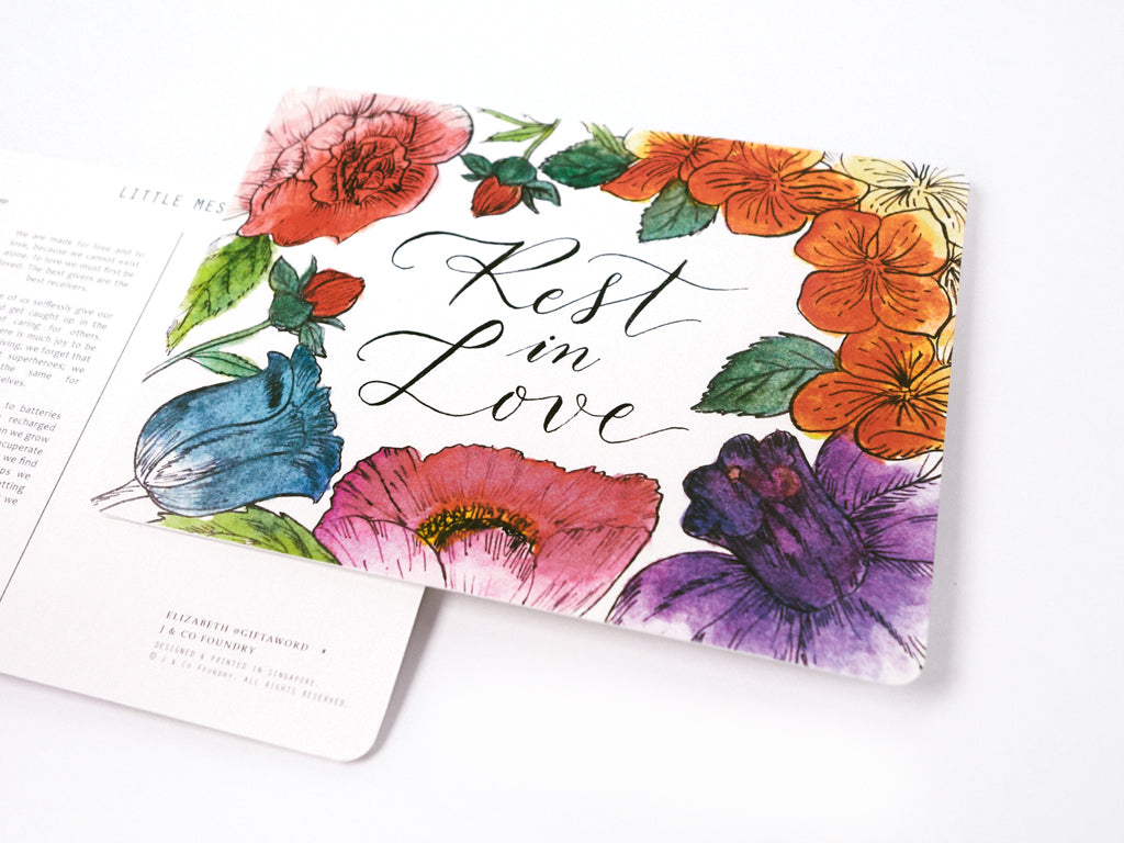 j co foundry rest in love rose gold necklace postcard verse elizabeth giftaword singapore self written poem