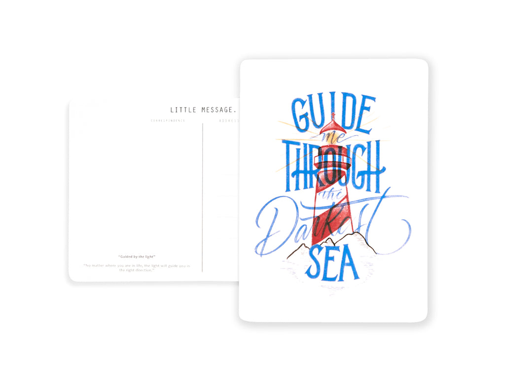 Postcard Calligraphy and Typography Lettering using Digital Artwork by C.J. Amaya