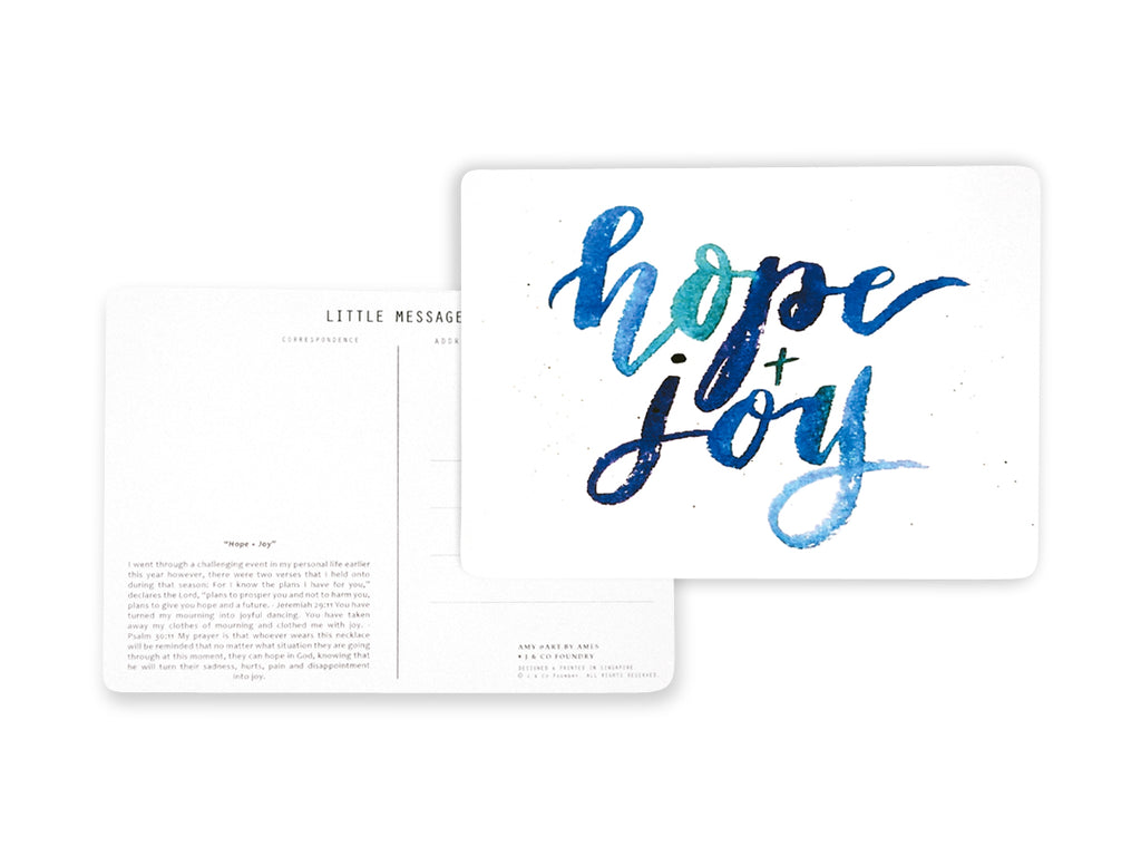 Postcard Calligraphy and Typography Lettering using Watercolour Artwork by Art by Ames