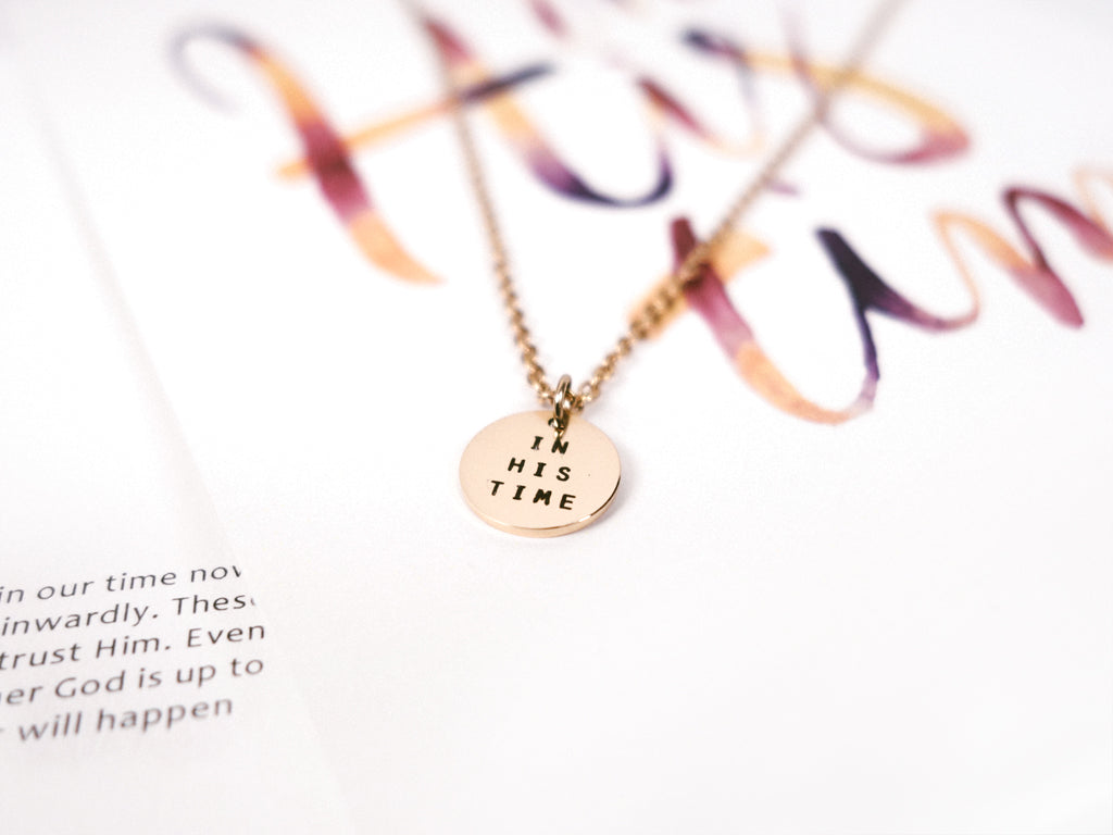 In His Time Rose Gold Necklace Jewellery Bible Verse Singapore Collaboration Hearticulate Hearticulatesg Christian Gift Present