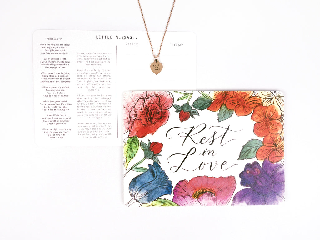 j co foundry rest in love rose gold necklace postcard verse elizabeth giftaword instagram singapore collaboration jcollab