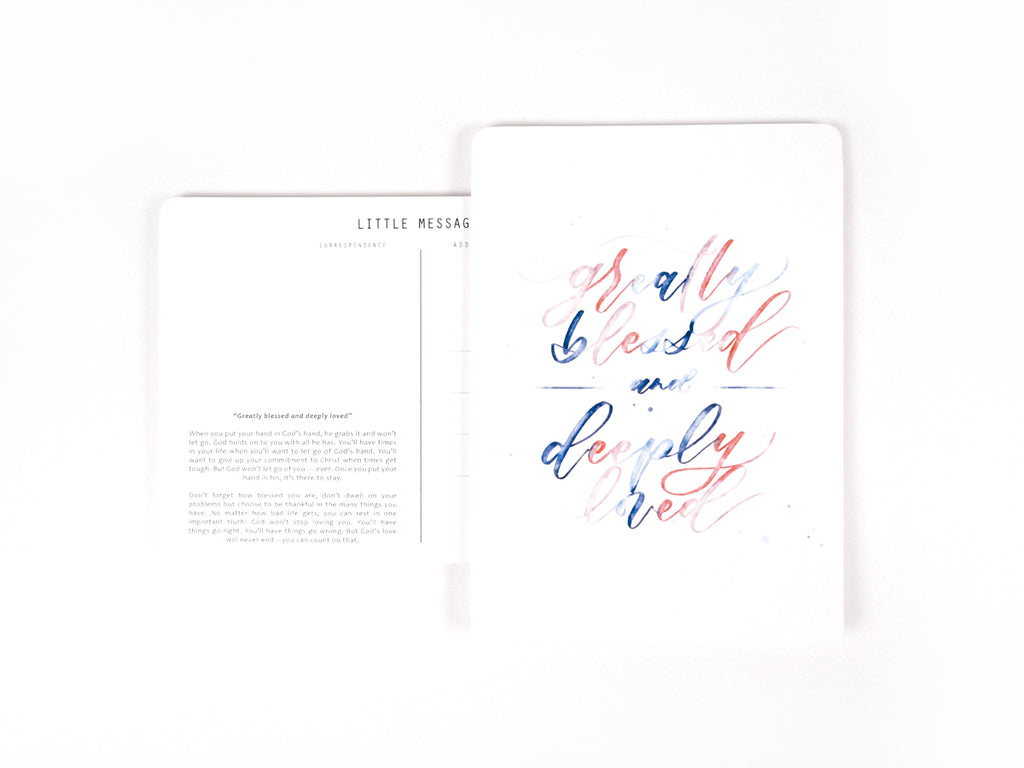 J & Co Foundry Postcard with watercolour Calligraphy Artwork by Weiqi Tan Ciera