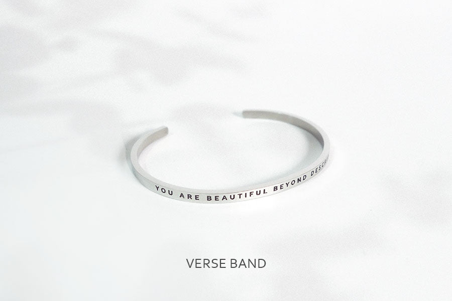 inspirational verse band wristband by J & Co Foundry