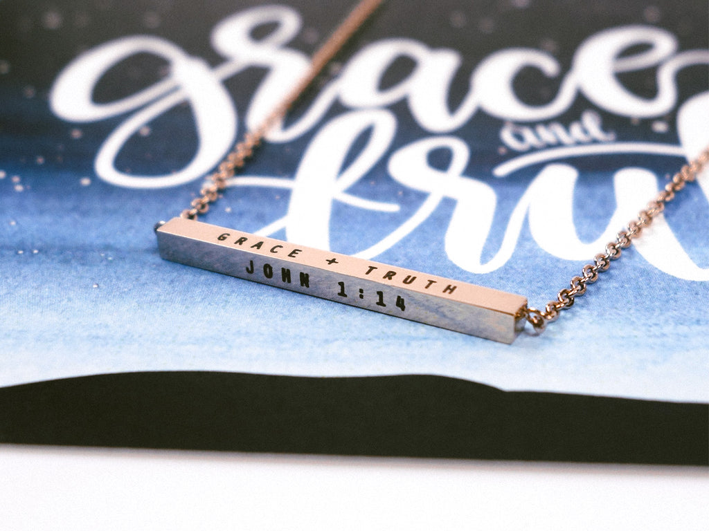 Grace+Truth | Bar Necklace