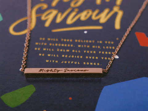 Mighty Saviour | Bar Necklace