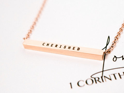 Cherished | Bar Necklace