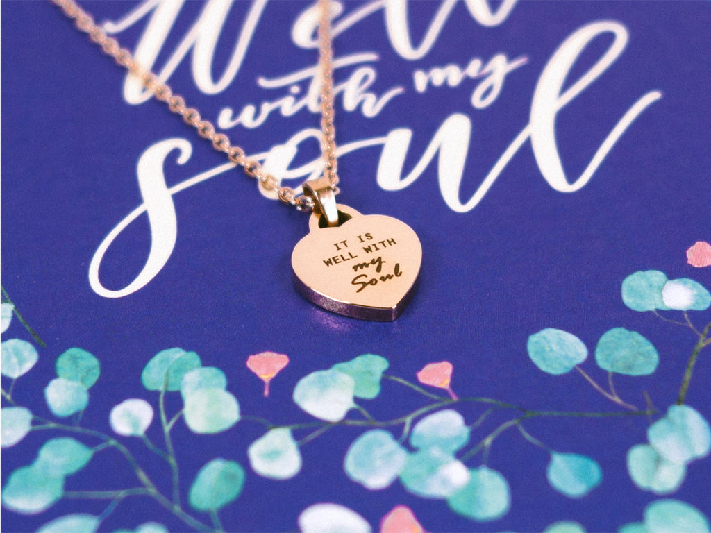It Is Well With My Soul | Heart Necklace