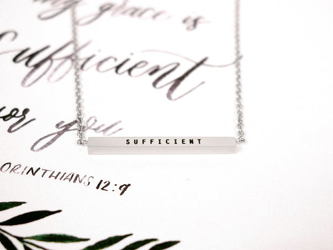 Sufficient | Bar Necklace