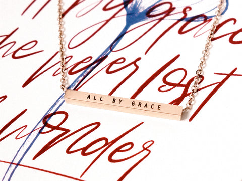 All By Grace | Bar Necklace
