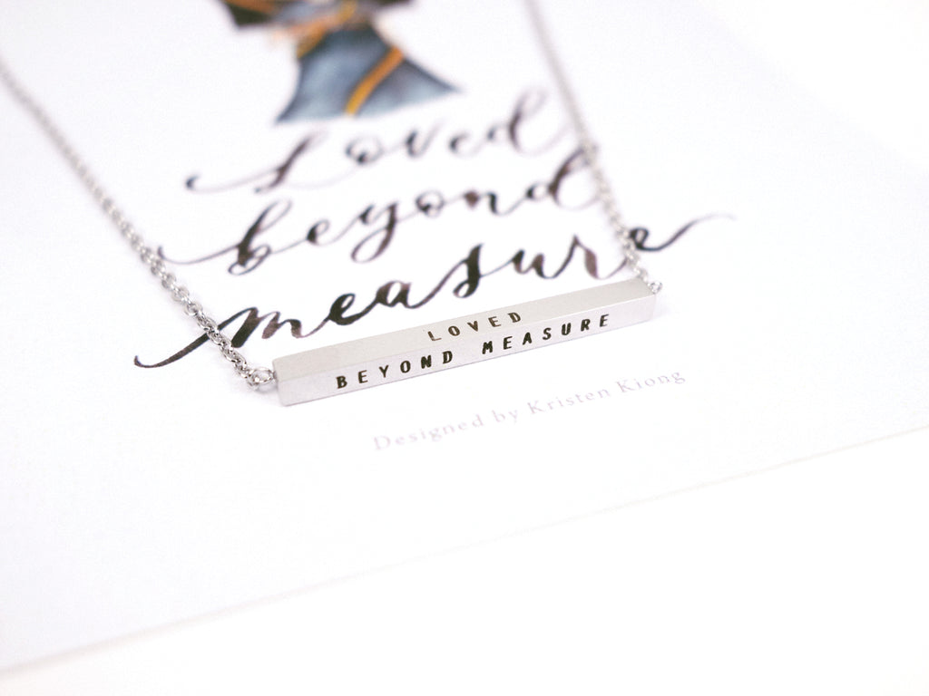 Loved Beyond Measure | Bar Necklace