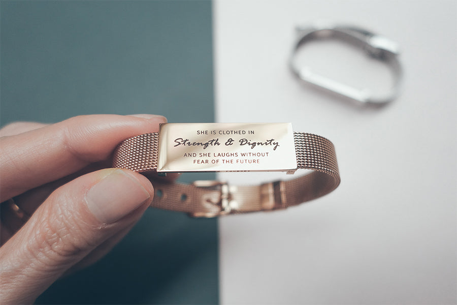 Classic Little Message Plate Bracelet