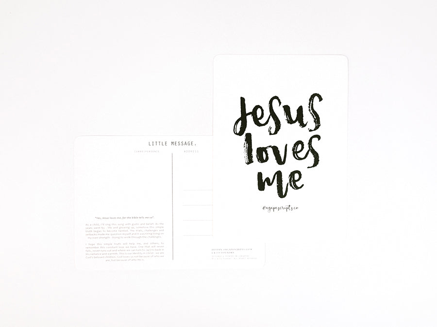 Brush Lettering card design by Jillian Ow from AgapeScripts Co