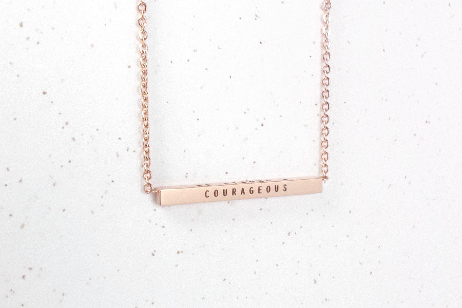 Bar pendant necklace for custom engraving Singapore