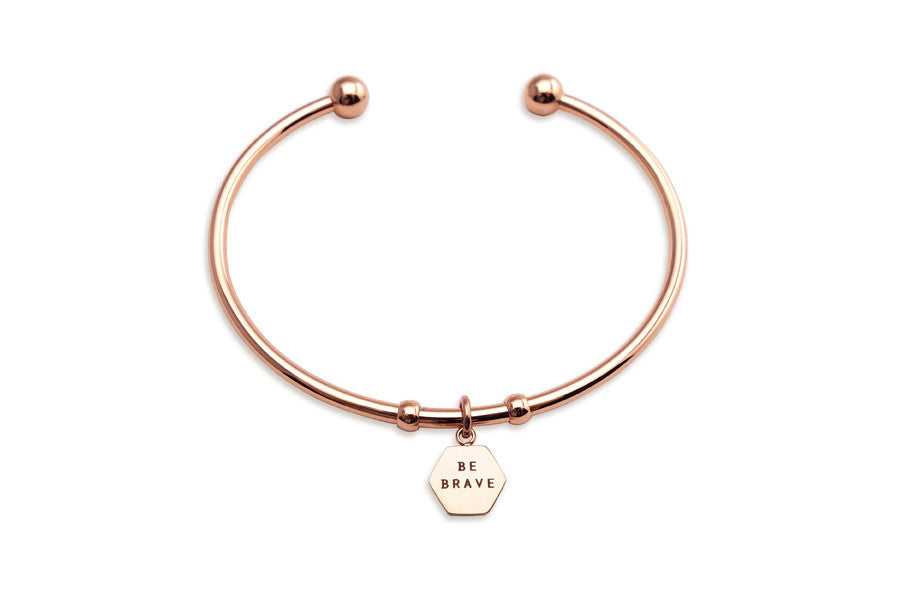 Be brave rose gold bracelet mothers day gift Singapore