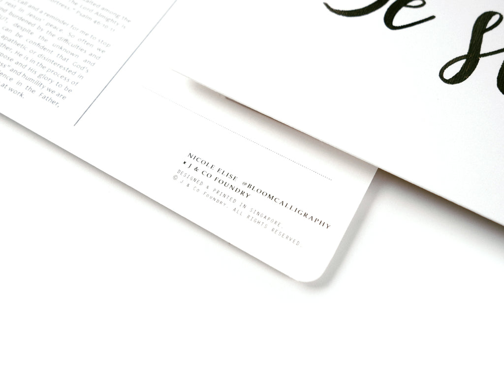 J & Co Foundry Postcard with Calligraphy Artwork by Nicole Elise