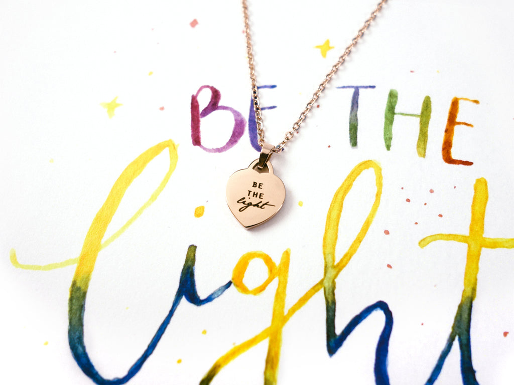 Be The Light | Heart Necklace
