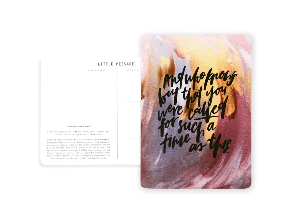 Christian Postcard Calligraphy and Typography Lettering by Jesse