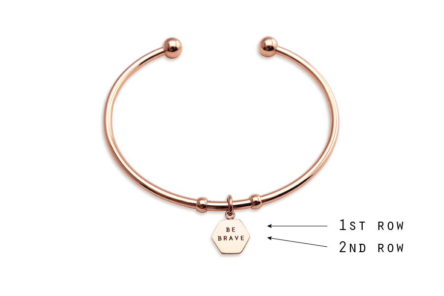 Personalise a bracelet for your girlfriend with special words