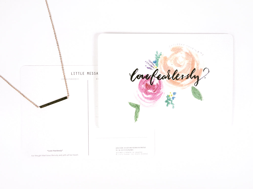 Collaboration J & Co Foundry with Jillian Saturdaymovement Inspirational Card