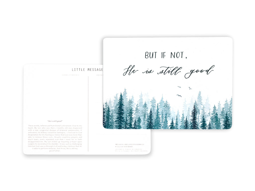 Christian Postcard Calligraphy and Typography Lettering by Melissa Rechard