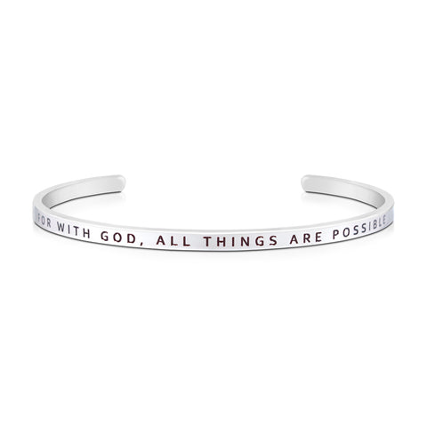 For With God, All Things Are Possible {Verse Band}