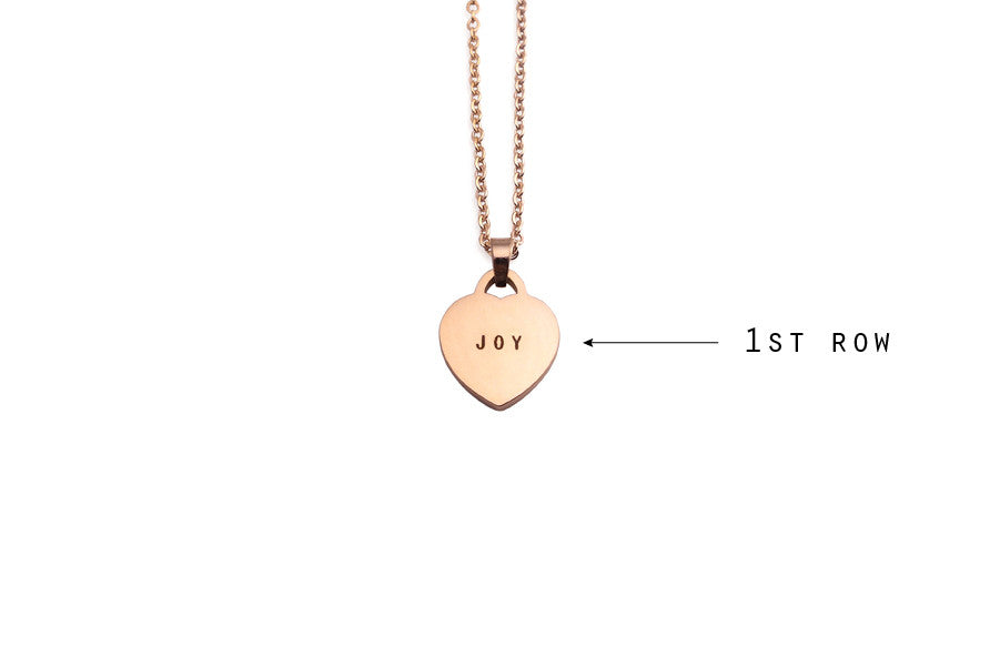 Singapore jewellery customisation with laser engraving heart pendant necklace