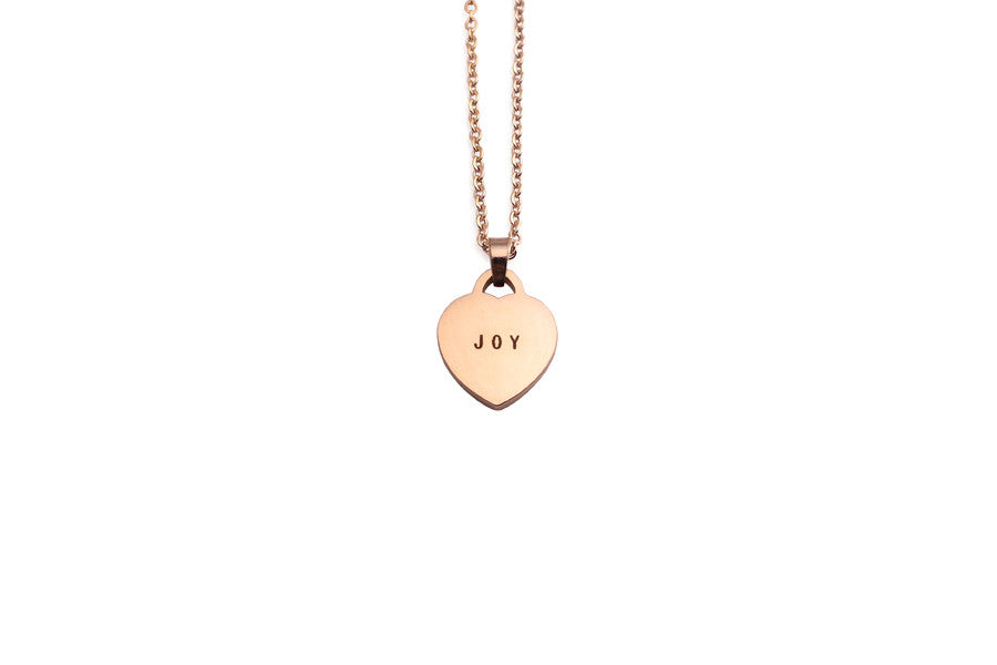 J & Co Foundry modern minimalist jewelry design joy pendant necklace