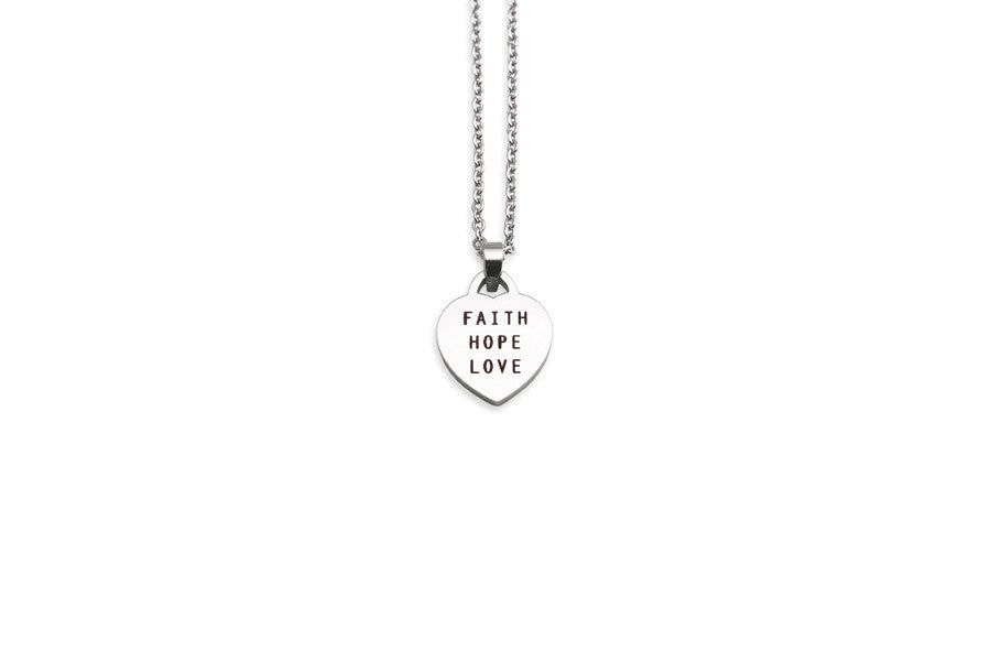 Faith hope love necklace pendant