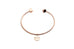 modern simple bracelet design with pendant engraving beloved