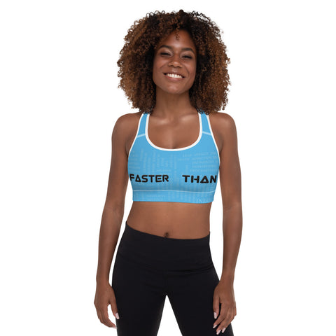 Faster Than Padded Sports Bra
