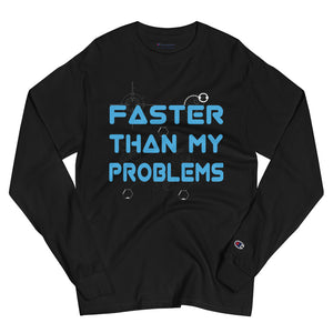 Open image in slideshow, Faster Than... Champion Long Sleeve Shirt