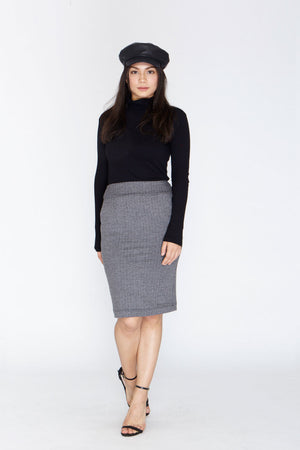 Suit Skirt - Herringbone