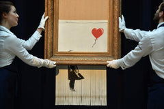 Banksy-Shredded Girl with Balloon-Love is in the Bin-Auction