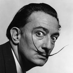 Salvador Dali Artist At The Acorn Gallery, Pocklington