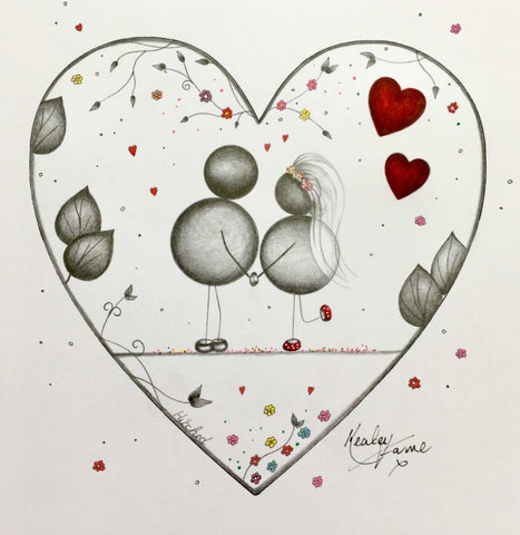 Hitched Original Sketch by Kealey Farmer *SOLD*-Original Art-The Acorn Gallery-Kealey-Farmer-artist-The Acorn Gallery