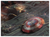 The Fight Of Our Lives (Avengers) by Mark Davies-Limited Edition Print-Mark-Davies-British-artist-The Acorn Gallery