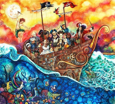 The Pirate Ship Unique Edition by Kerry Darlington *RARE*-Limited Edition Print-The Acorn Gallery-Kerry-Darlington-artist-The Acorn Gallery