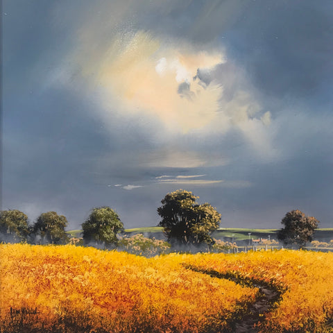 Journey's End Original by Allan Morgan-Original Art-Allan-Morgan-landscape-artist-The Acorn Gallery
