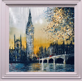 Golden Opportunities (London) Original on Aluminium by Nigel Cooke *SOLD*
