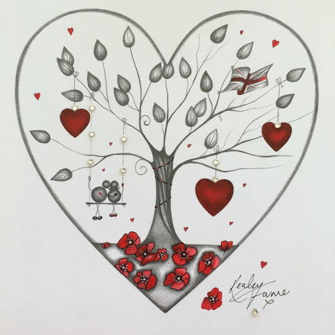 Our Remembrance Tree Original Sketch by Kealey Farmer *SOLD*-Original Art-The Acorn Gallery-Kealey-Farmer-artist-The Acorn Gallery