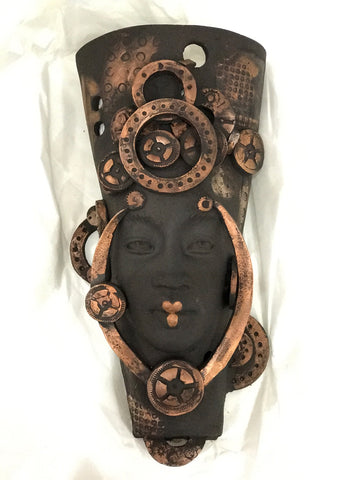 Kali Original Steampunk Sculpture by Lucinda Brown