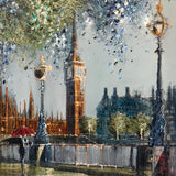 April Showers Over Westminster (London) Original on Aluminium by Nigel Cooke *SOLD*
