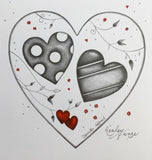 Opposites Attract Original Sketch by Kealey Farmer *SOLD*