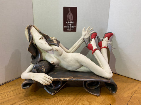 New Shoes Original Sculpture by Sally Dunham