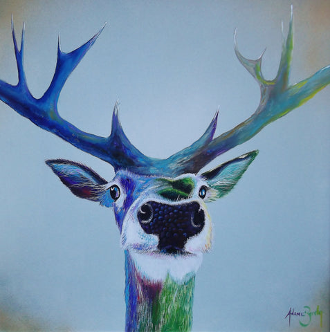 Stag Selfie Original by Adam Barsby