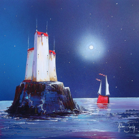 The Distant Isle Original by Adam Barsby *SOLD*